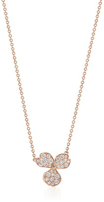 Tiffany & Co. & Co. Paper Flowers pave diamond flower pendant in 18k rose gold