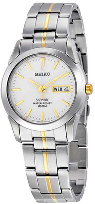 Seiko Sapphire White Dial Stainless Steel Watch SGG719