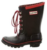 Hunter Rubber Lace-Up Rain Boots