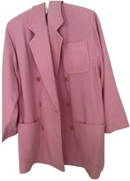 Celine Pink Wool Coat for Women Vintage