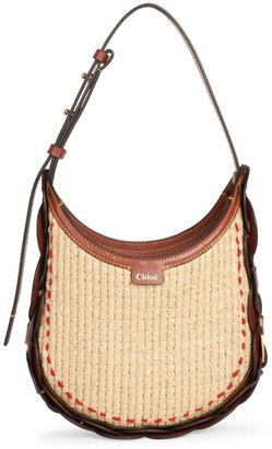 Chloé Small Darryl Woven Raffia Hobo Bag