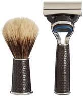 CEDES MILANO Travelling carbon-fibre shaving set