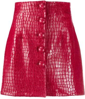 Andamane Croc-Effect Mini Skirt