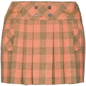 Gucci Optical Damier mini skirt