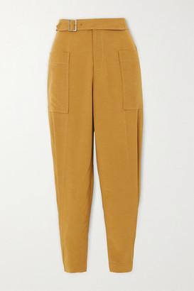 REJINA PYO Maxine Shantung Tapered Pants - Light brown