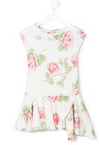 MonnaLisa rose print tunic top - kids - Viscose/Rayon - 4 yrs