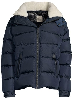 SAM. Frontier Shearling Trimmed Quilted Down Jacket