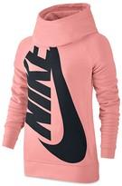 Nike Girls' French Terry Logo Pullover Hoodie - Big Kid