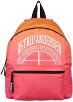 Astrid Andersen Logo Print Nylon Backpack