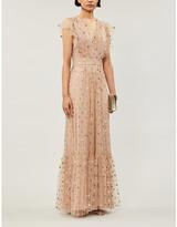 Temperley London Fortuna ruffled tulle maxi dress