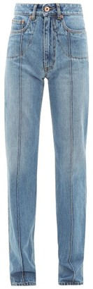 Maison Margiela Front Seam Straight-leg Denim Jeans - Womens - Denim