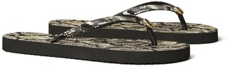 Tory Burch Printed-Strap Thin Flip-Flop
