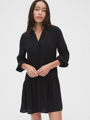 Gap Split-Neck Drop Waist Dress