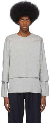 Comme des Garcons Grey Layered Long Sleeve T-Shirt