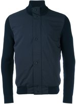 Z Zegna stand up collar contrast jacket