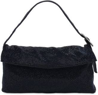 Benedetta Bruzziches La Monique La Grande Crystal Mesh Bag