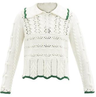 Shrimps Fritz Contrast-trim Wool-blend Sweater - Cream Multi