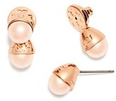 Tory Burch Pearl Bud Front Back Earring
