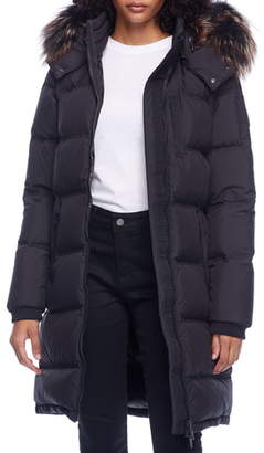 Moose Knuckles Rush Lake Genuine Fox Fur Trim Quilted Down Parka