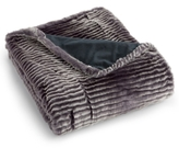 Charter Club CLOSEOUT! Eyelash Stripe Faux-Fur Throw