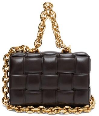 Bottega Veneta The Chain Cassette Intrecciato-leather Bag - Brown