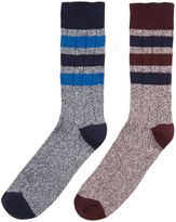 Howick 2 Pack Top Stripe Boot Sock