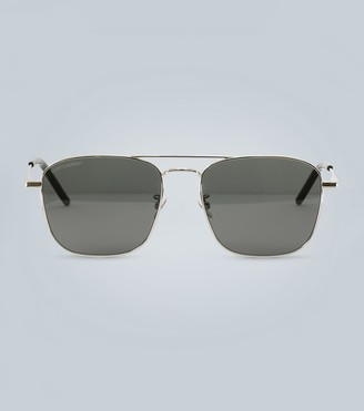Saint Laurent Rectangular metal sunglasses