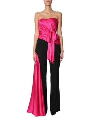 Moschino Draped Sleeveless Silk Jumpsuit
