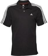 adidas Mens Essentials 3 Stripe ClimaLite Polo Black/White