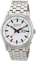 Mondaine Sport 1 Nightvision Men's Watch A669.30308.16SBM with White Round Dial and a Stainless Steel Bracelet