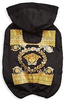 Versace Women's Barocco Logo Waterproof Hooded Dog Jacket