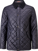 John Lewis & Co. Waxed Cotton Quilted Jacket, Dark Navy