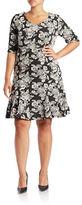 Gabby Skye Plus Floral-Print Shift Dress