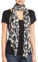 Vince Camuto Leopard Print Silk Scarf
