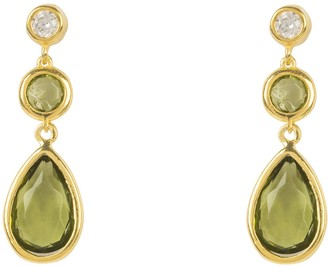 Latelita Tuscany Gemstone Drop Earring Gold Peridot