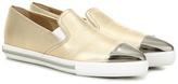 Miu Miu Leather slip-on sneakers