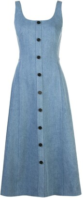 Adam Lippes Flared Button Dress