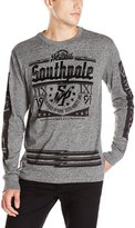 Southpole Men's Long Sleeve Tee in Solid Color with Logo on Chest and Arms