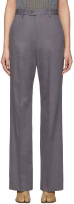 Maison Margiela Grey Twill Trousers