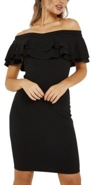 Quiz Off-The-Shoulder Bodycon Dress