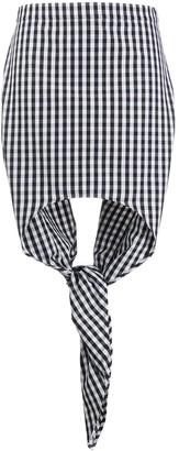 Burberry Scarf Detail Gingham Mini Skirt