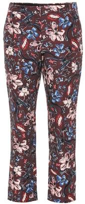 Erdem Printed wool-blend pants