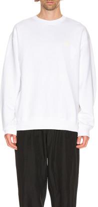 Acne Studios Forba Face Sweatshirt in Optic White | FWRD