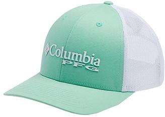 Columbia PFG Mesh Ball Cap (New Mint/White/Sunnyside/PFG Logo) Baseball Caps