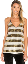 Blaque Label Striped Sequin Cami