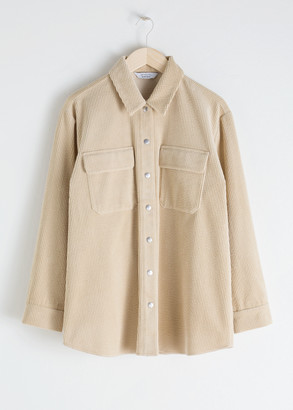 And other stories Oversized Corduroy Workwear Shirt