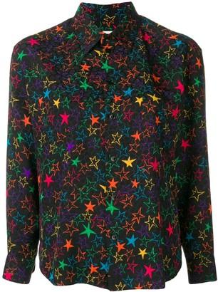 Saint Laurent Star-Print Shirt