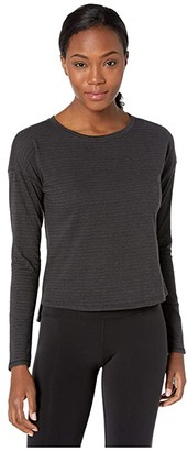 The North Face Long Sleeve Emerine Top (TNF Black Desert Stripe) Women's Long Sleeve Pullover