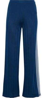 Alexander Wang Striped Ribbed-knit Track Pants