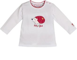 Salt&Pepper Salt and Pepper Baby Girls' BG Longsleeve uni Igel T-Shirt